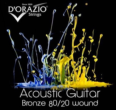 D'Orazio Acoustic Guitar Bronze 80/20 wound