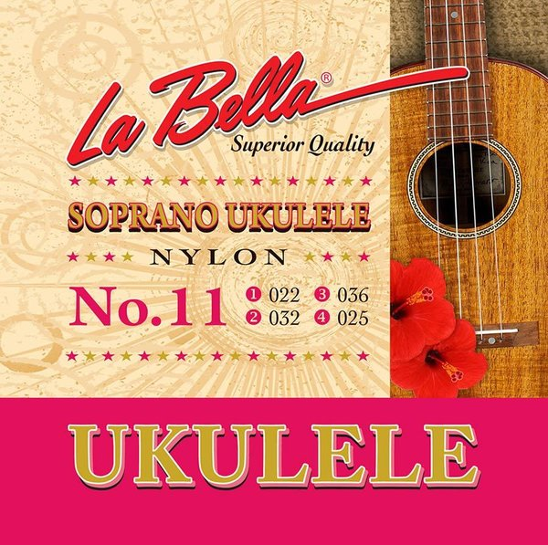 La Bella Acoustic Folk string set soprano ukulele