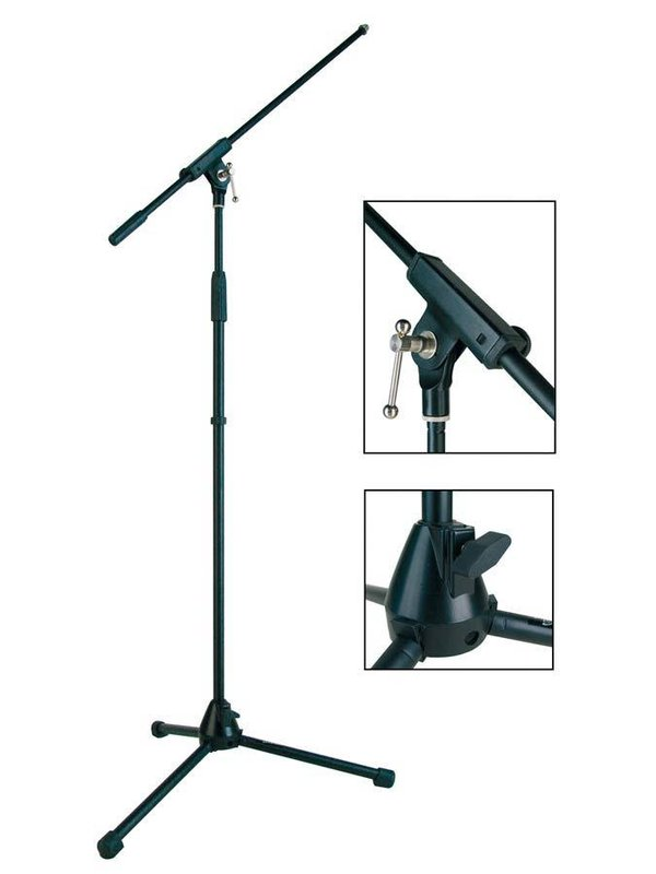 Stage Pro Series microphone stand with boom