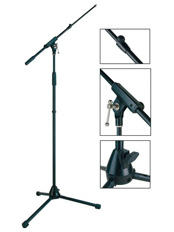 Stage Pro Series microphone stand with adjustable boom